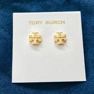 Tory Burch Brand NEW Gold Logo Stud Earrings
